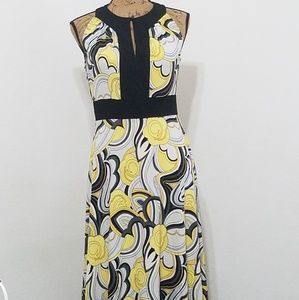 Dresses & Skirts - Easy breezy spring dress•blk., wh., and yellow